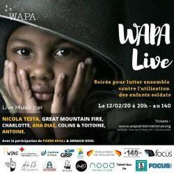WAPA Live – Ensemble contre l'utilisation des enfants-soldats (Bruxelles, 12/02)