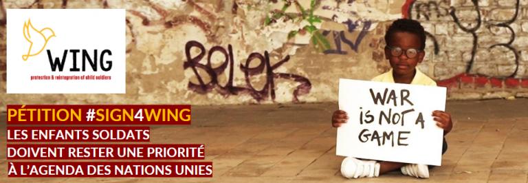 WING – la pétition sur les enfants soldats dans la presse