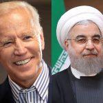 Portraits de Biden et Rohani